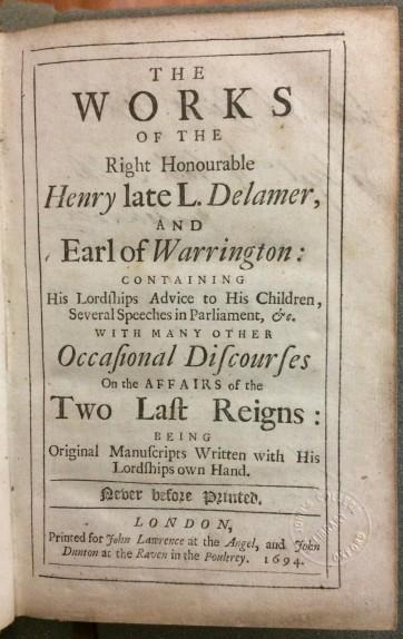 Warrington - title page