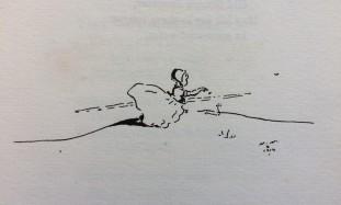 'Treasure Box' - illustration of a doll-like figure