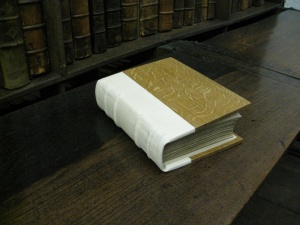 The new binding both mechanically and aesthetically benefits the manuscript.