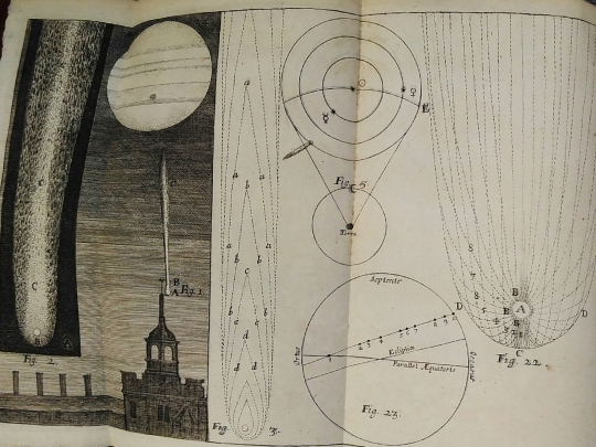 Hooke's diagrams describe the movement of the comet he observed in April 1667