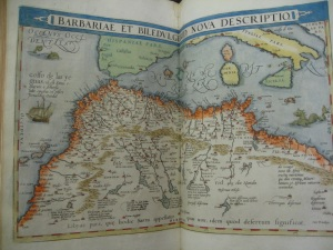 A map of North Africa and the Mediterranean in the second edition of the atlas (1579)