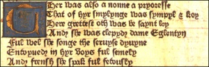 Section of printing in the book  (Image from www.sjc.ox.ac.uk/385/Library-and-Archives.html)