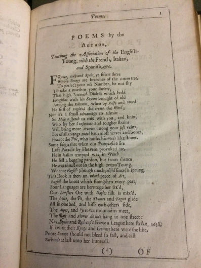 Howell's poem in the Lexicon