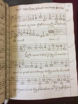 A score in the part book, containing notation and words