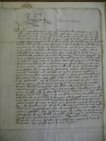 A letter from Queen Elizabeth I to the Bishop of Exeter